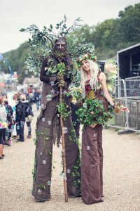fairy stilt walkers, walking trees.