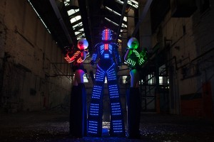 LED stilt walking robot NYE entertainment