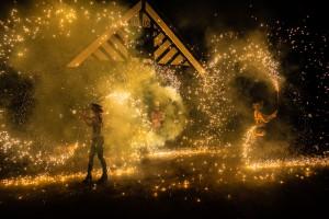 Pyro fire show