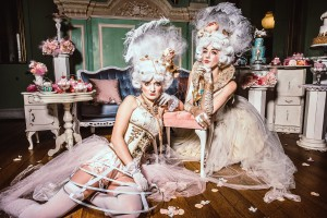 High end, super posh rococo themed entertainment. Get a taste of the 18th century