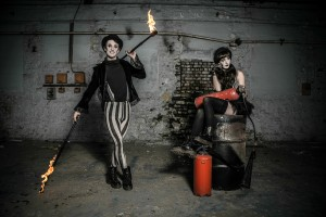 Fire performers for hire in the UK