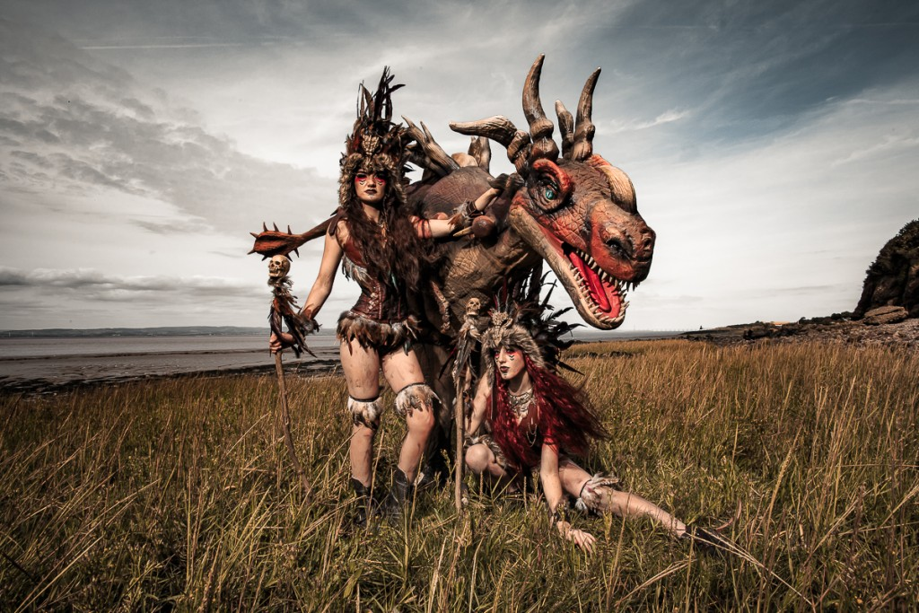 dragon themed walkabout entertainment, great for private parties, festivals and public events.