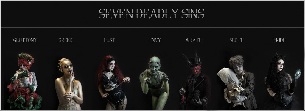 Book 7 Deadly sins themed entertainment. Hire the 7 Deadly Sins Halloween. Unique Halloween entertainment.