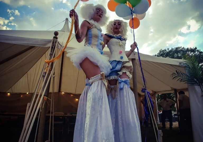 Stilts walkers for hire in the UK