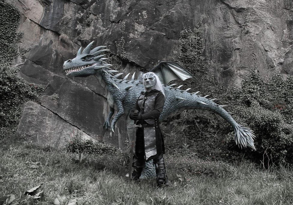 Hire animatronic dragon acts and Gam of Thrones themed characters for events and parties.