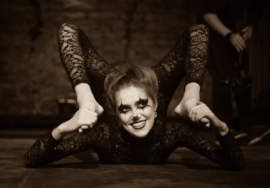 Spooky contortion act for Halloween