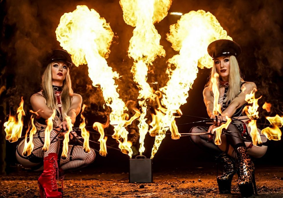 The world's most bad ass fire girl troupe with incredible special effects and pyrotechnics. Top fire acts and fire shows for film, TV, photo-shoots and events.